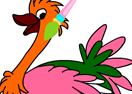 Peppy Ostrich Coloring