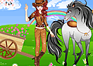 Cool Girl and Horse