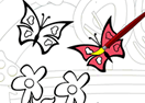 Sweet Butterfly Coloring