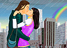 Kissing in the Rain Dress Up Game